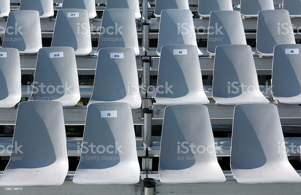 Empty tribune stock photo