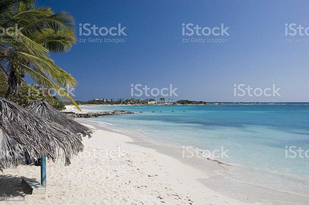 Empty Tropical Beach royalty-free stock photo