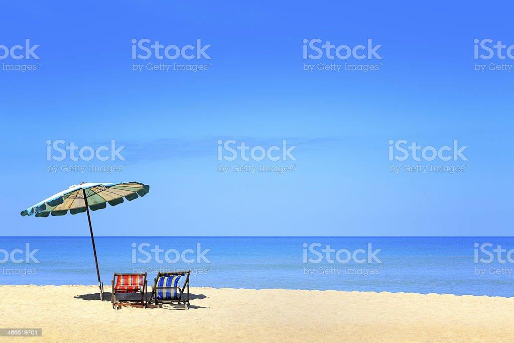 Empty tropical beach stock photo
