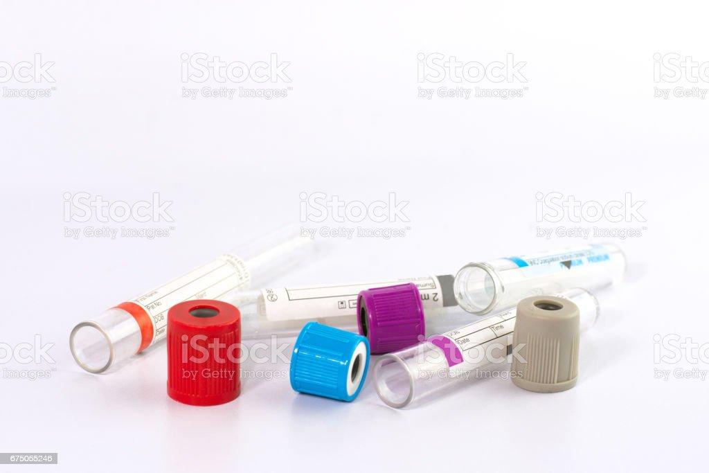 empty tube blood stock photo