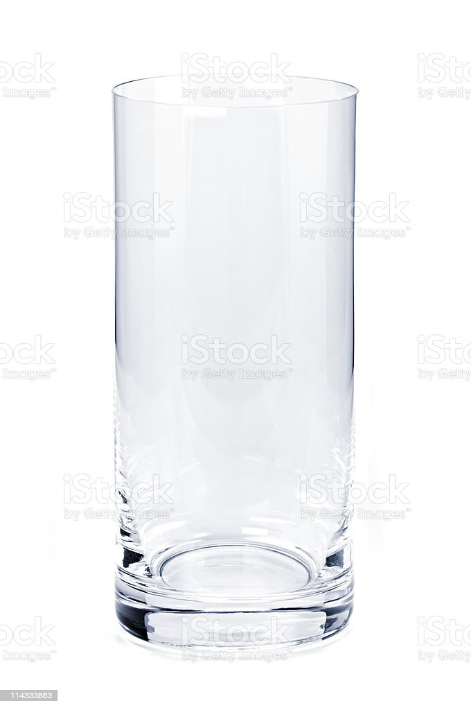 Empty tumbler glass stock photo