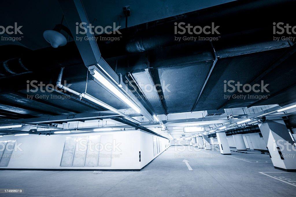 empty Underground Parking Lot royalty-free stock photo