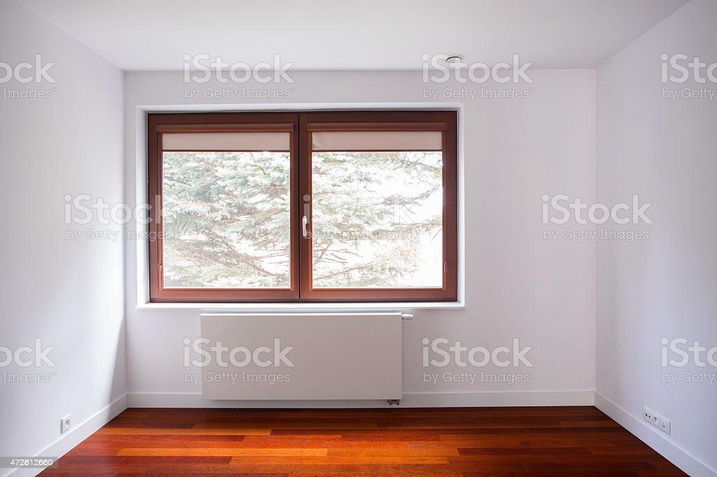 Empty unfurnished room stock photo