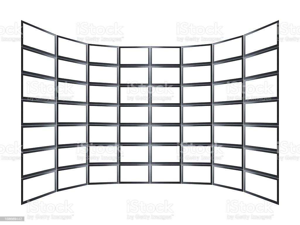 Empty Video Wall royalty-free stock photo