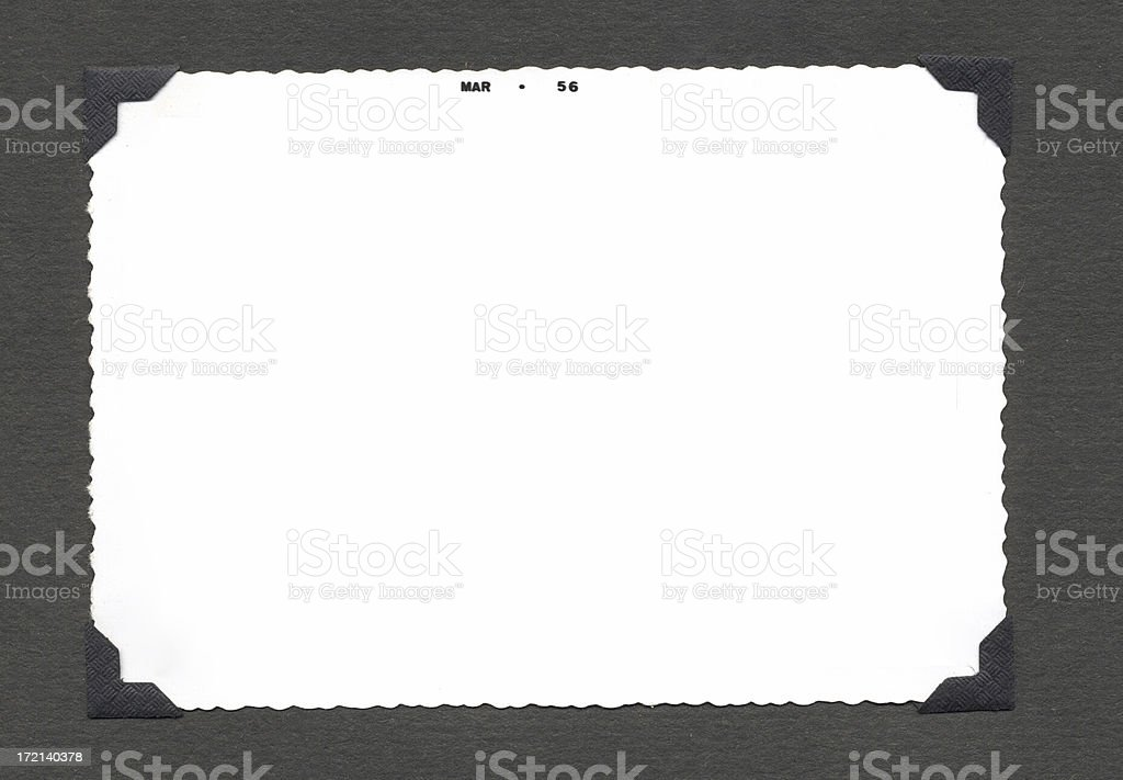 Empty vintage Photo and Corners royalty-free stock photo
