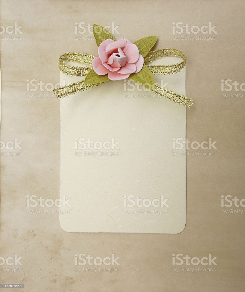 Empty vintage tag label royalty-free stock photo