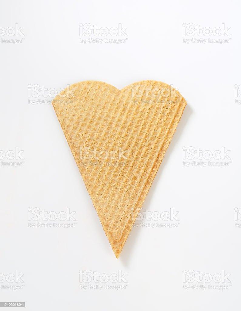 Empty waffle cone stock photo