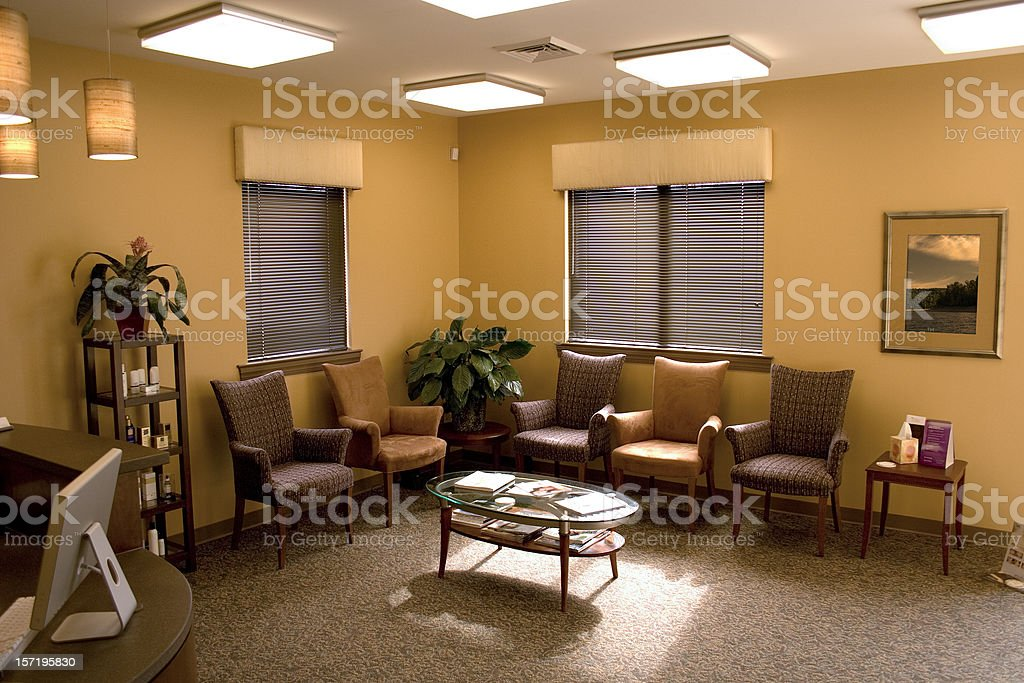 Empty Waiting Room stock photo