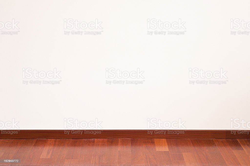 Empty wall and parquet floor royalty-free stock photo