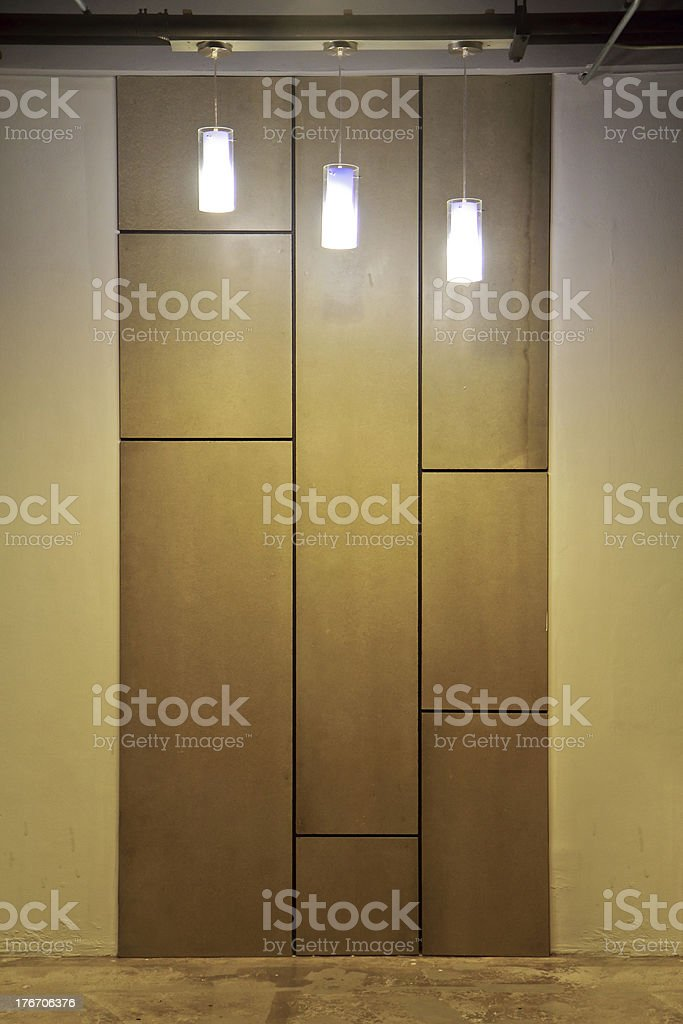 empty wall  modern interior with lamp royalty-free stock photo