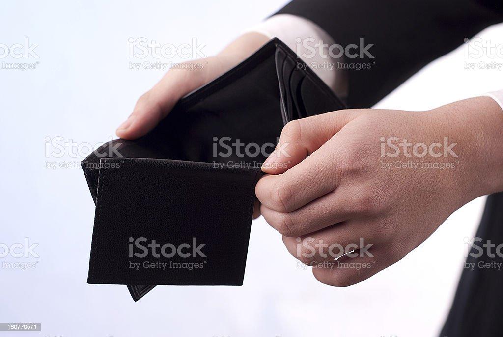 Billetera vacía de foto de stock libre de derechos