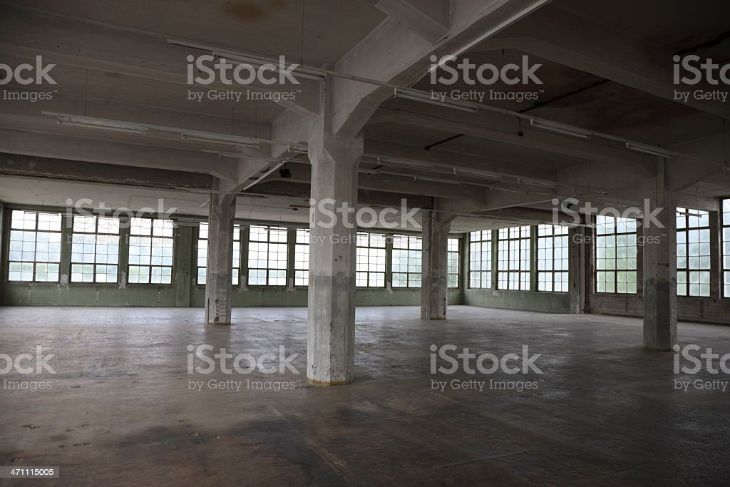 Empty Warehouse Interior royalty-free stock photo