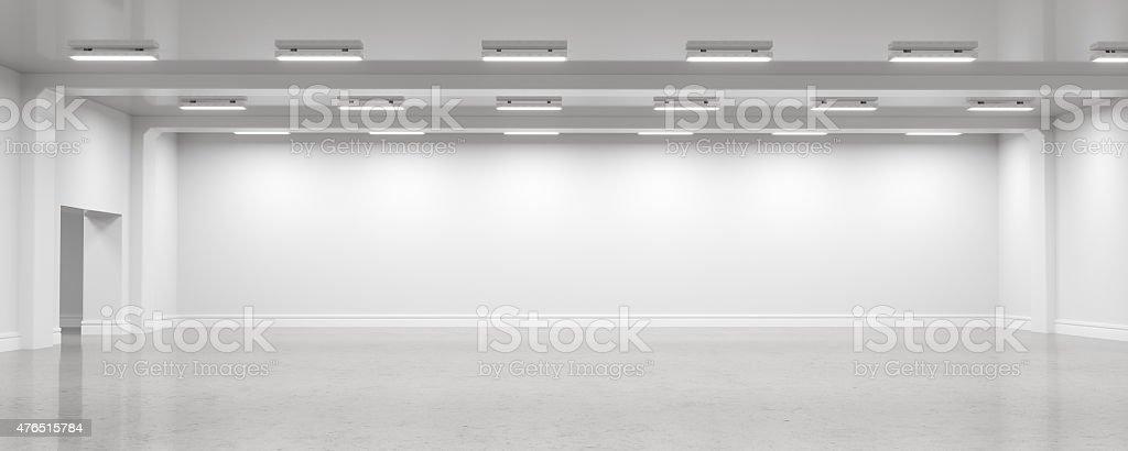 Empty warehouse interior stock photo