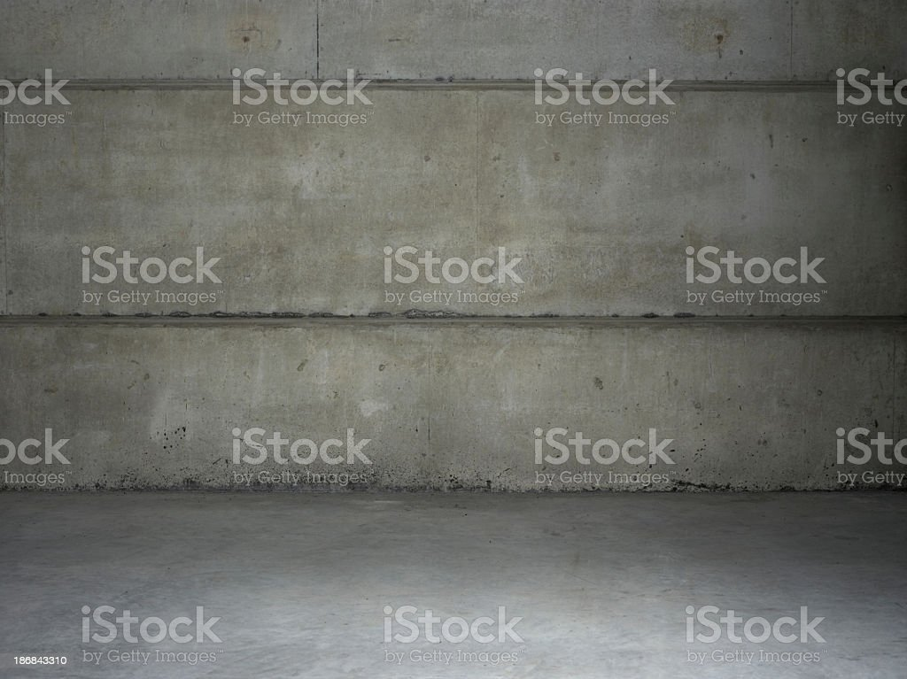 Empty warehouse wall stock photo