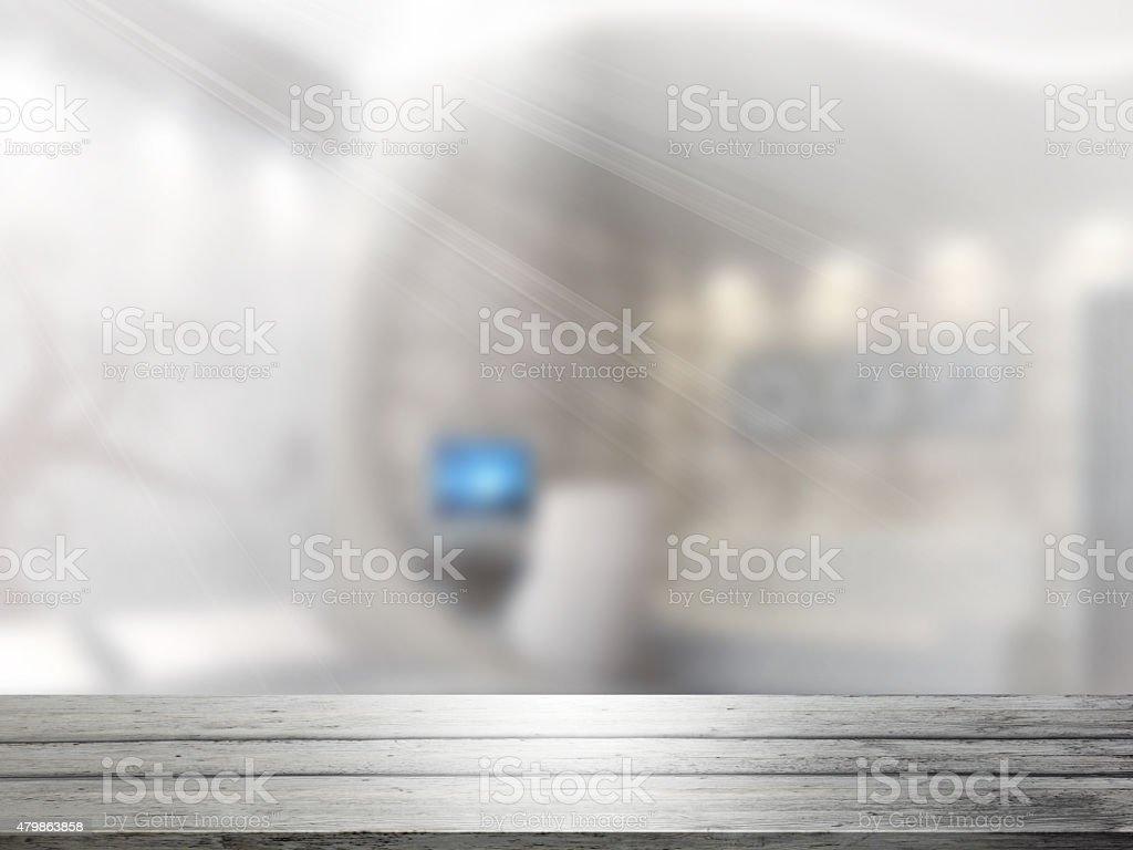 Entrepôt vide avec entrée. photo libre de droits