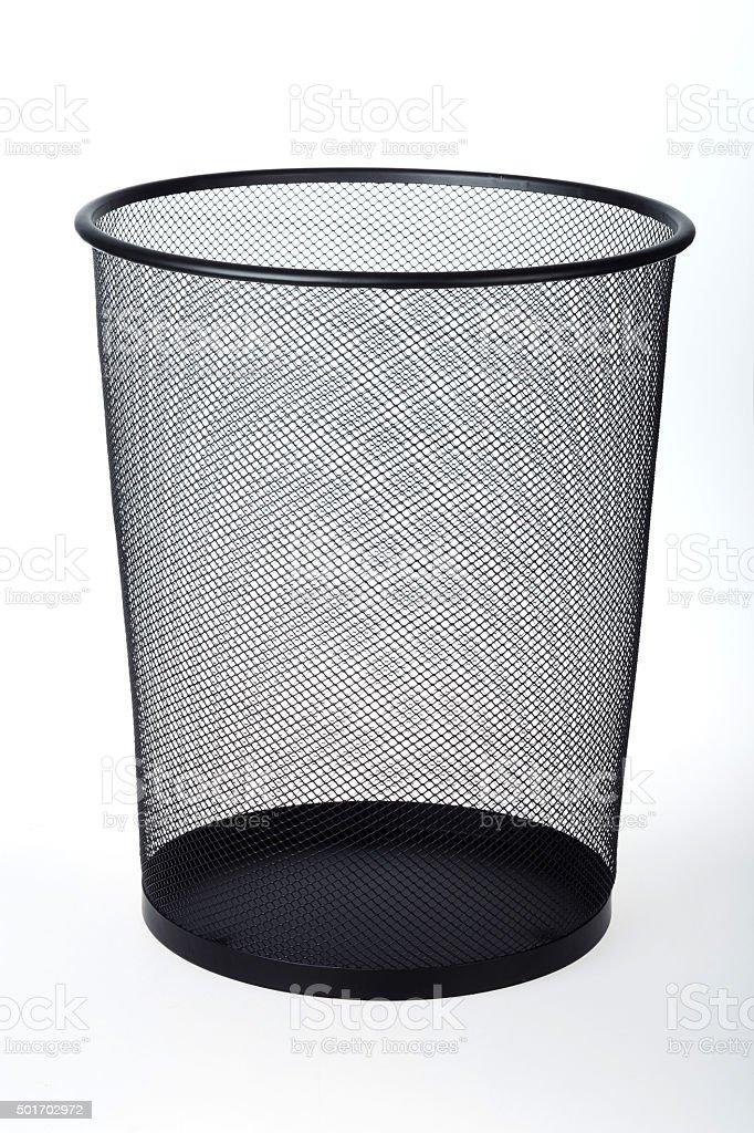 Empty Wastepaper Baske stock photo