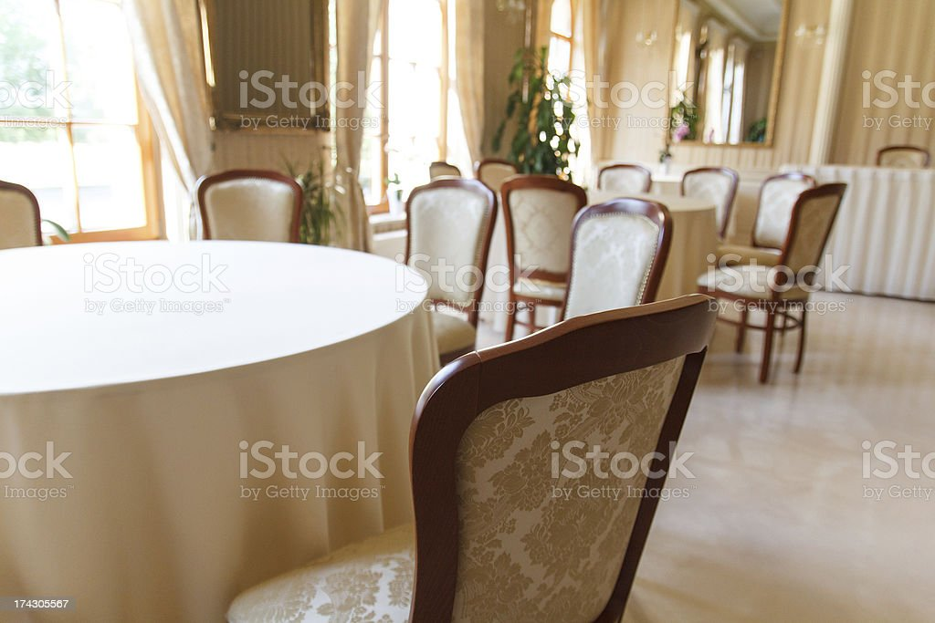 Empty wedding hall royalty-free stock photo