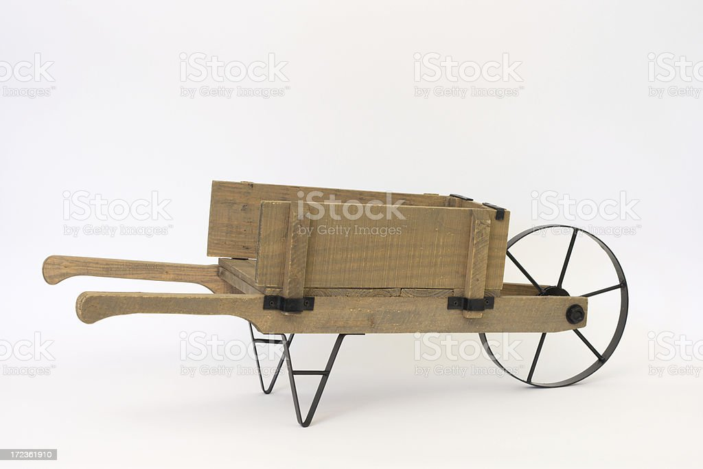 Empty Wheelbarrow stock photo