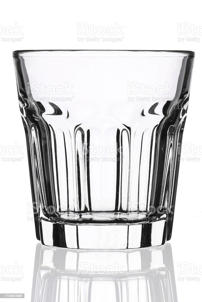 Empty whisky glass royalty-free stock photo