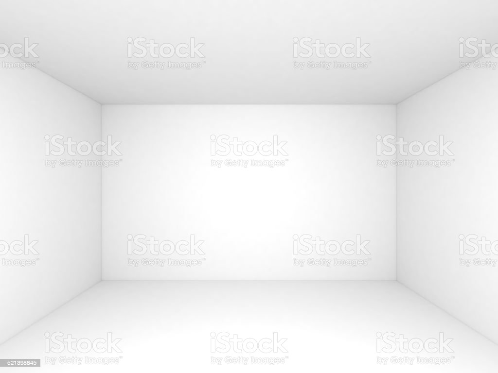 Empty White Room Interior Background Stock Photo Istock