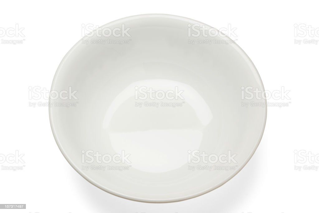 empty white bowl royalty-free stock photo