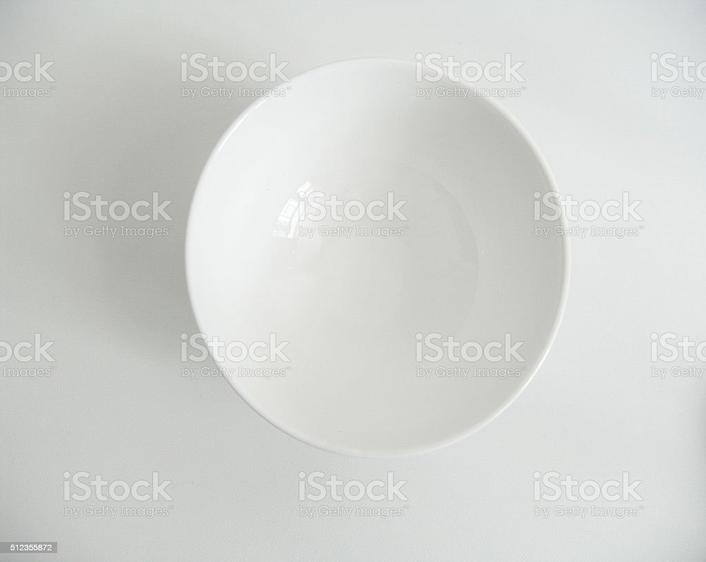 Empty White Bowl stock photo