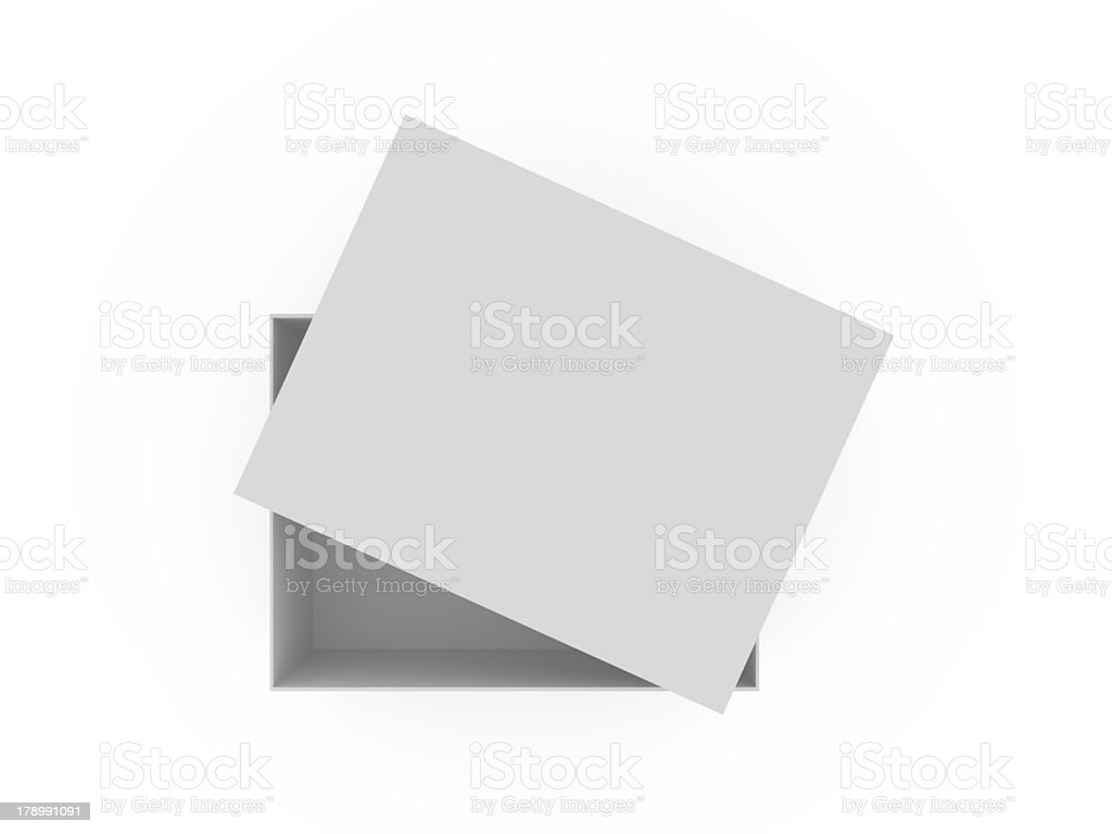 Empty White Box royalty-free stock photo