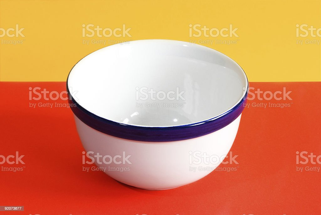 Empty white ceramic bowl royalty-free stock photo