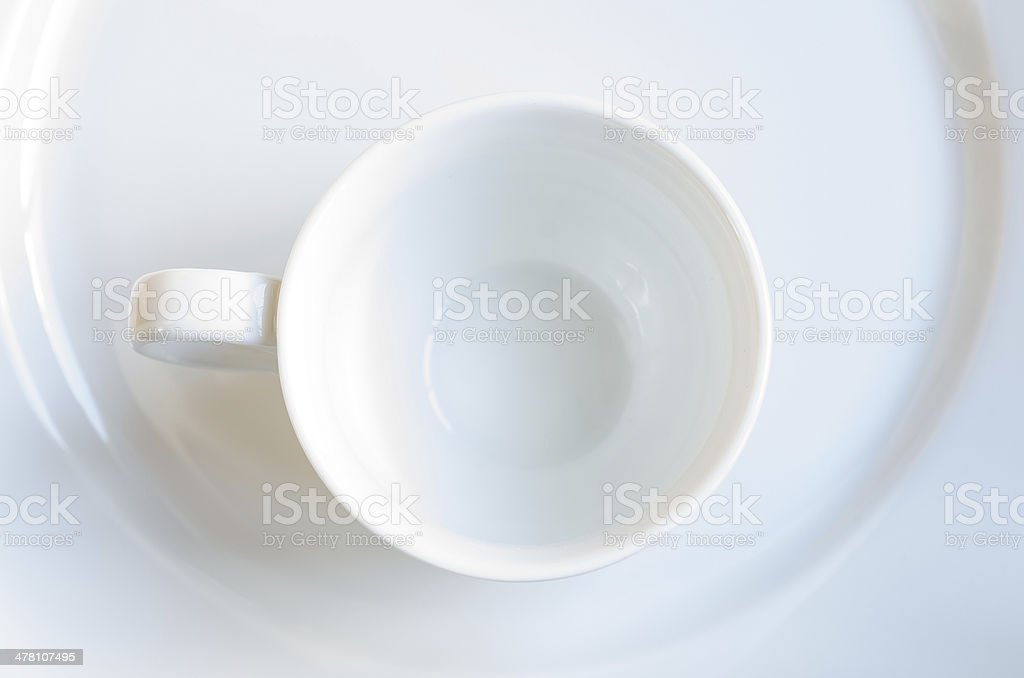 Empty white coffee cup royalty-free stock photo