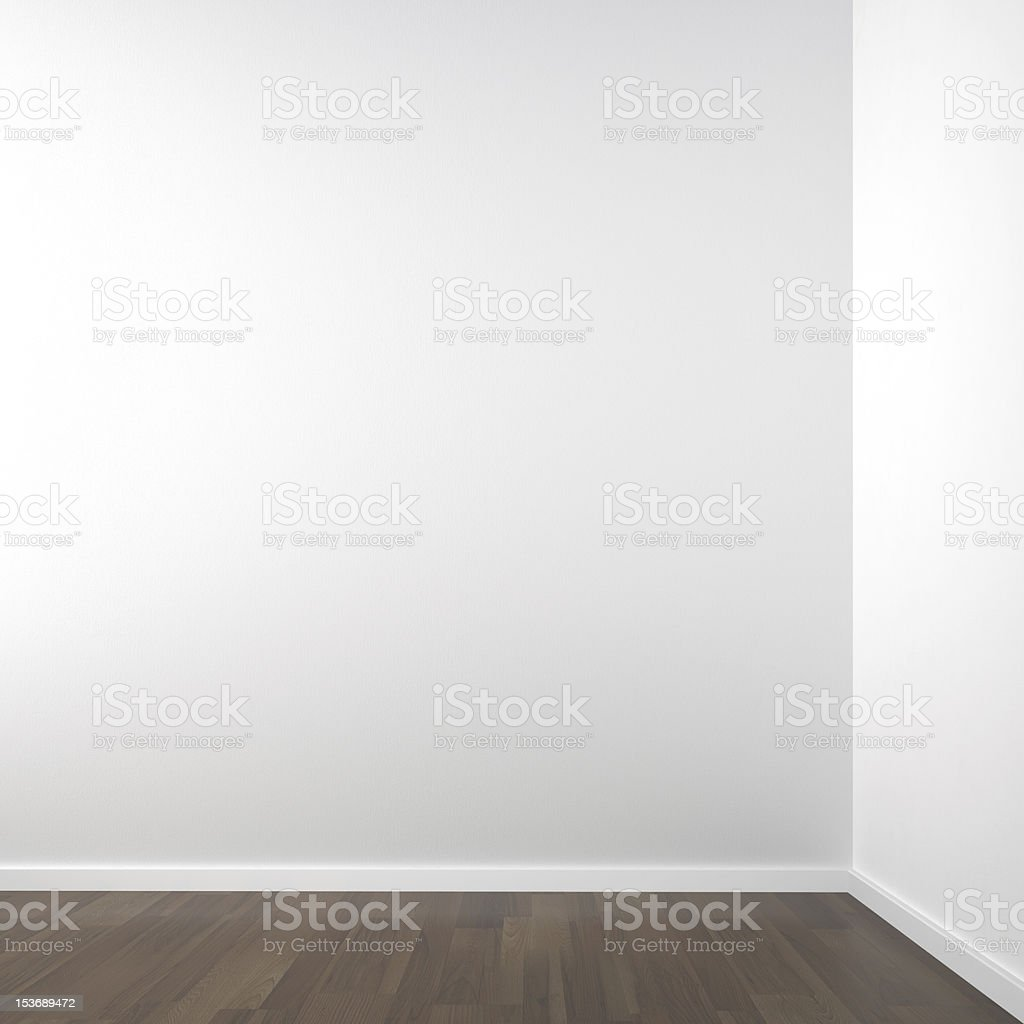 empty white corner stock photo