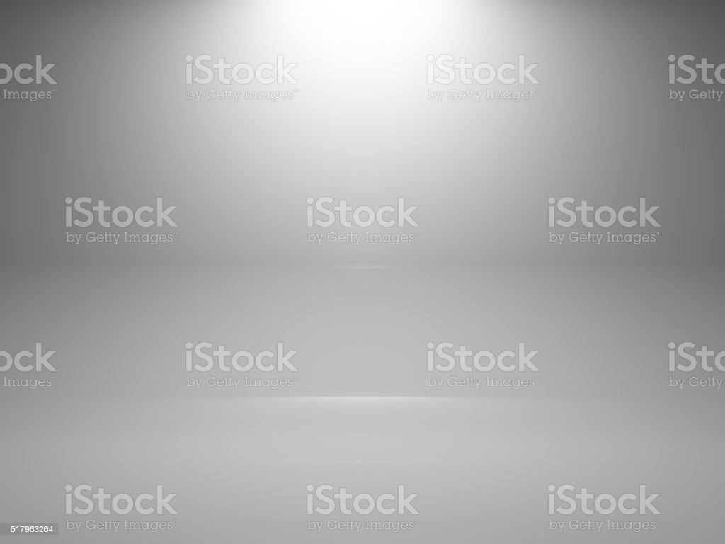Empty white interior background with spot, 3d stock photo