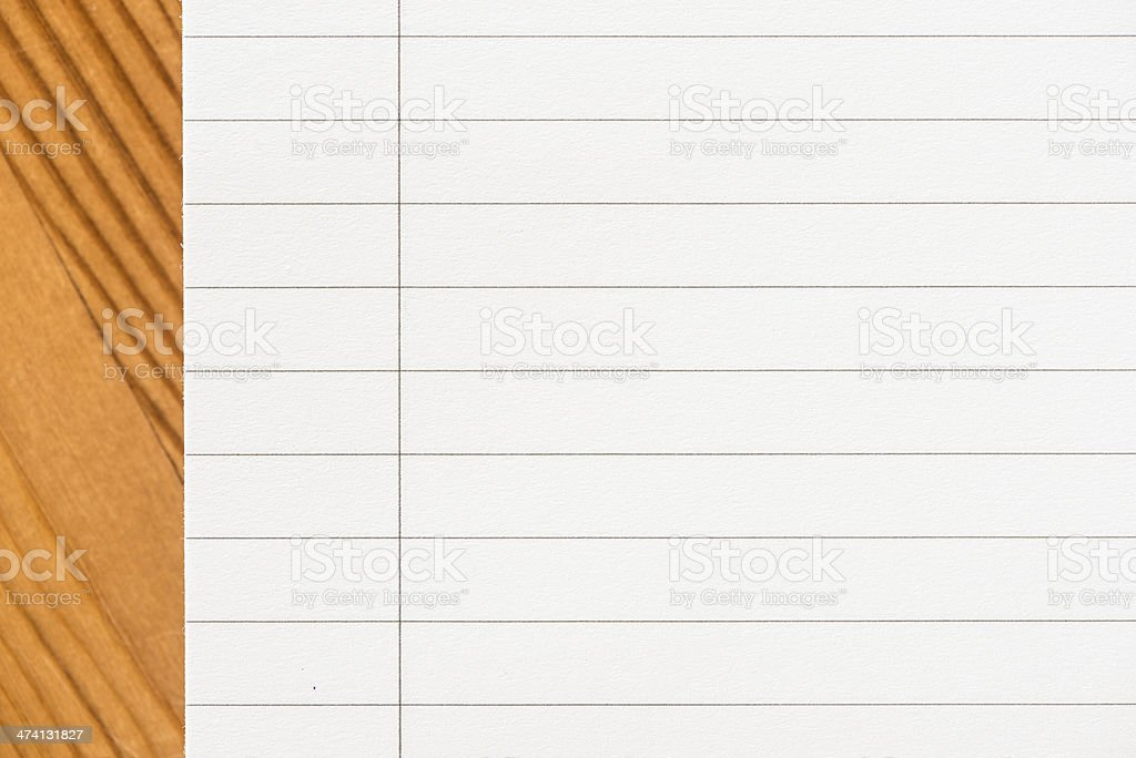Empty white paper royalty-free stock photo
