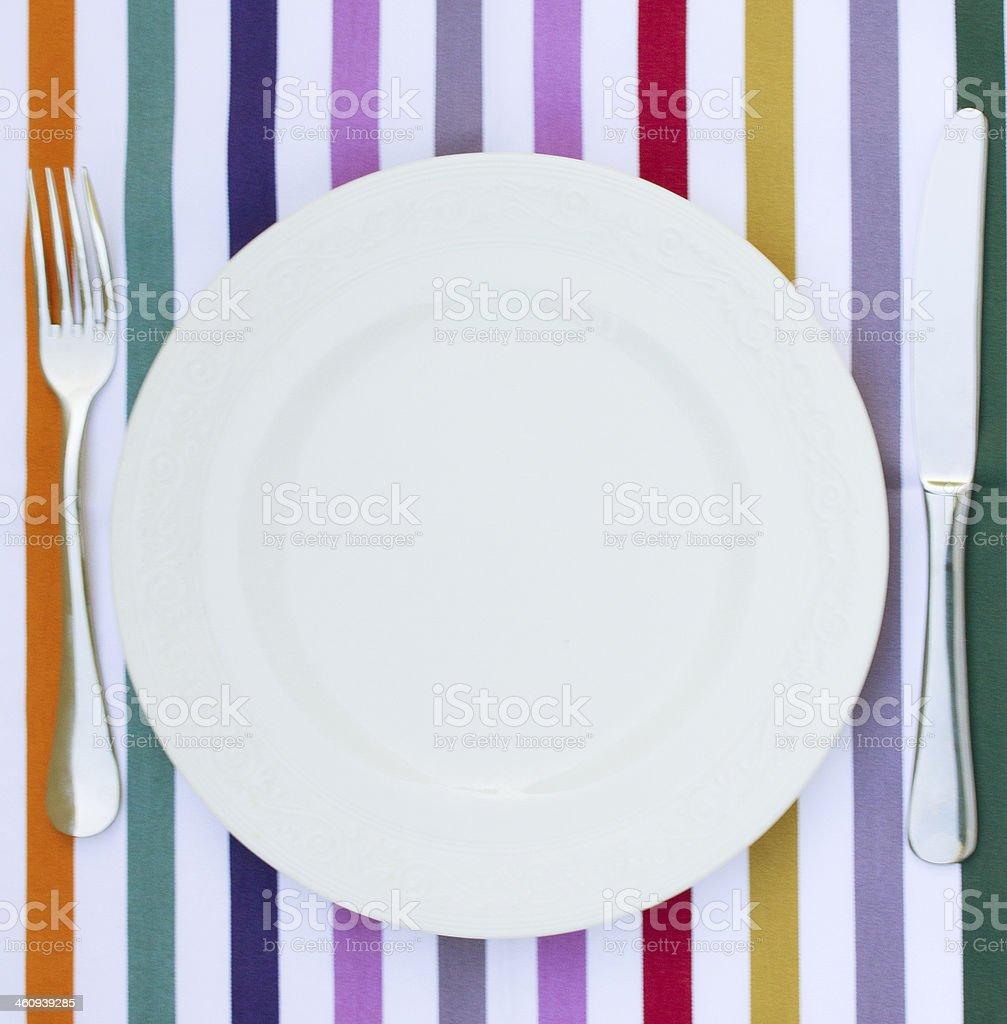 empty white  plate stock photo