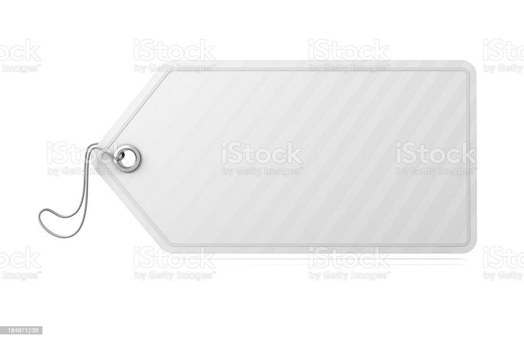Empty White tag royalty-free stock photo