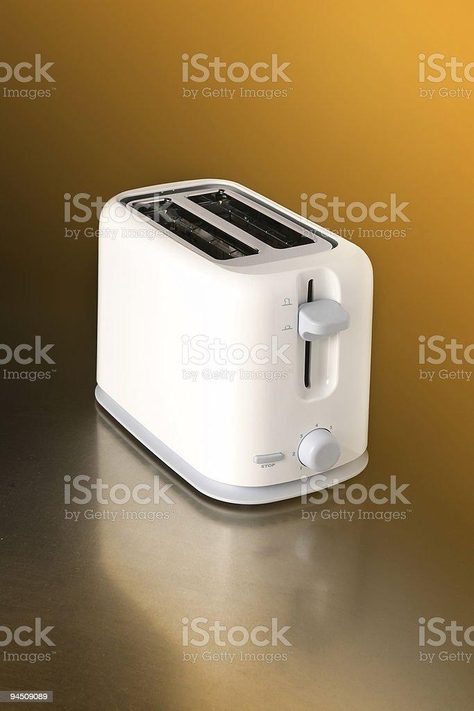 Empty white toaster royalty-free stock photo
