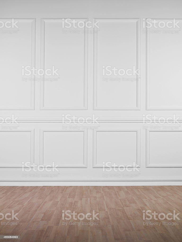 Empty White Wall stock photo