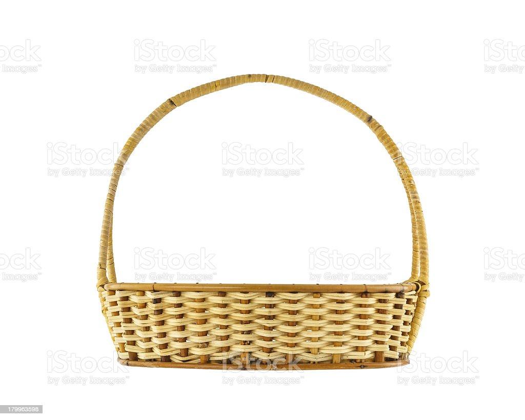 Empty wicker basket royalty-free stock photo