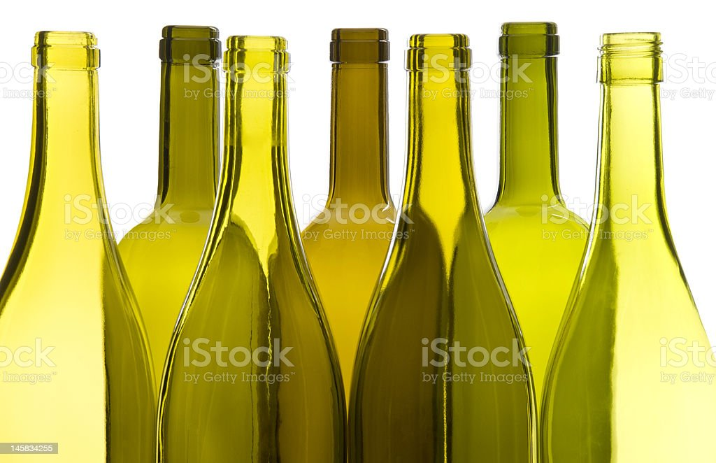 Empty Wine Bottles royalty-free stock photo