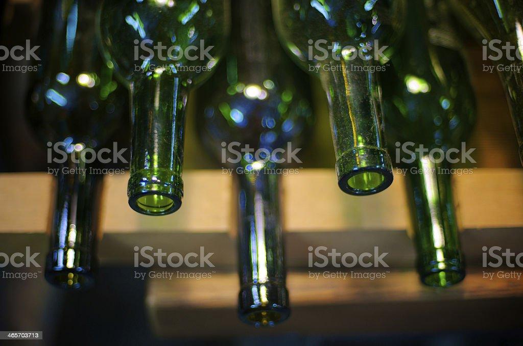 Empty wine bottles royalty-free stock photo
