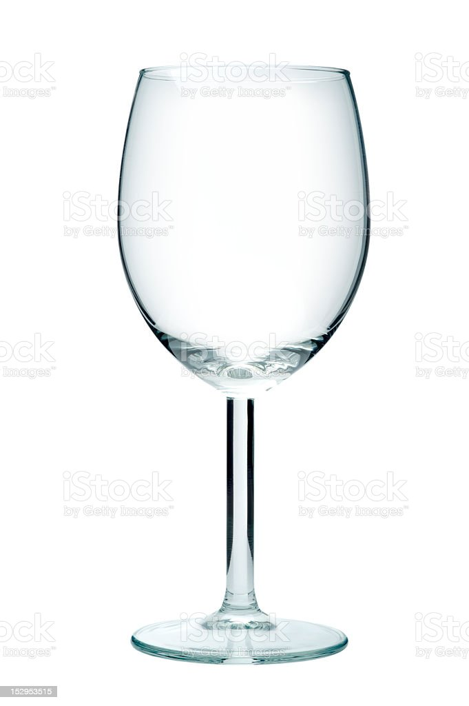 Empty wine glass, isolated on a white background royalty-free stock photo