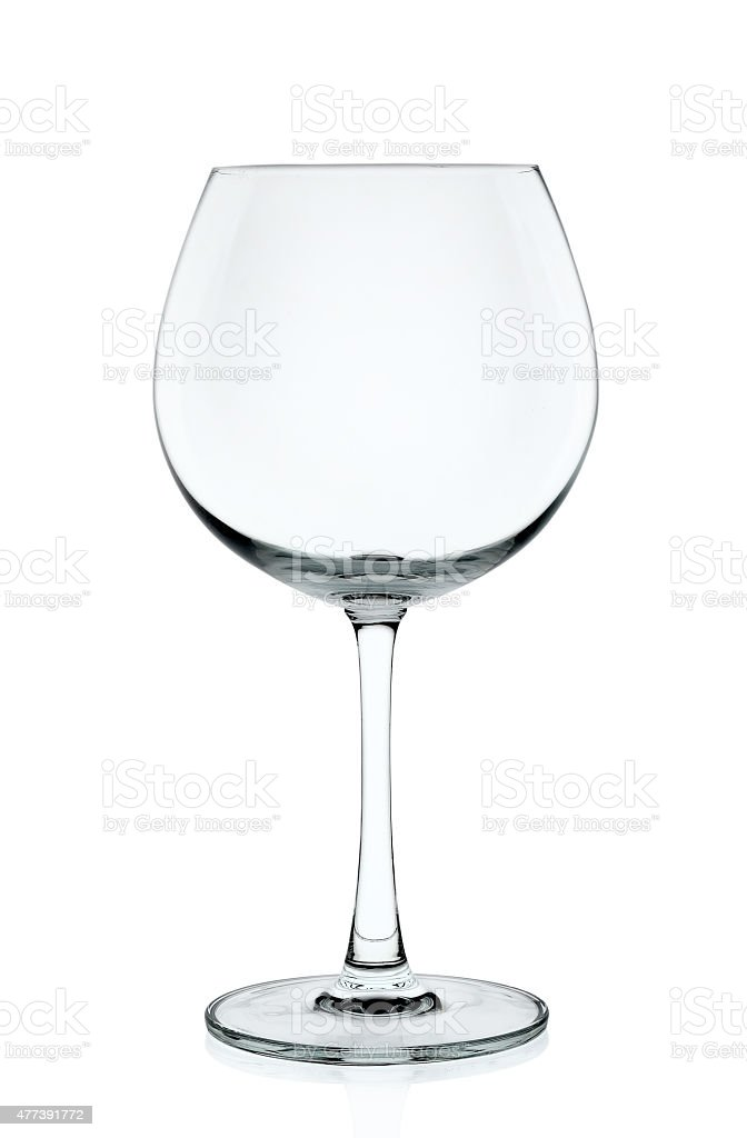 Empty wine glass isolated on the white background stock photo
