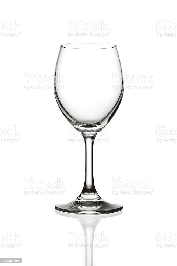 empty wine glass isolated stock photo