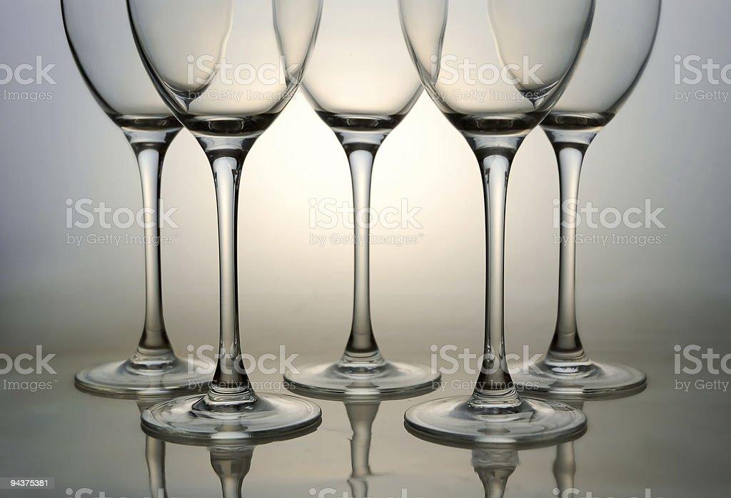 Empty wine glasses royalty-free stock photo