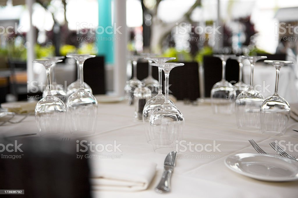 Empty wineglasses royalty-free stock photo
