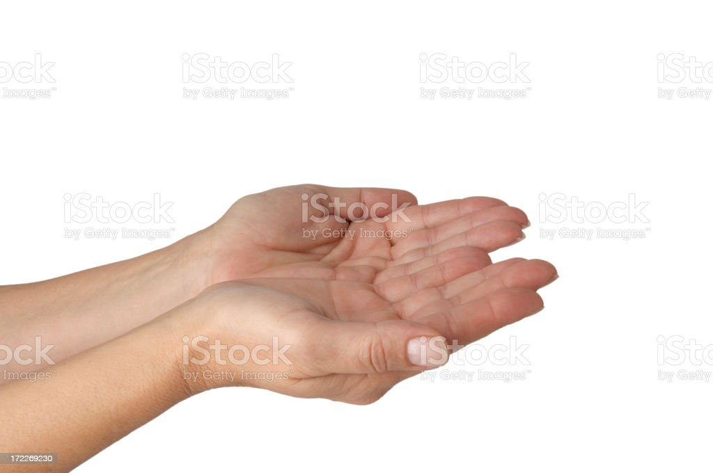 Empty woman's hands royalty-free stock photo