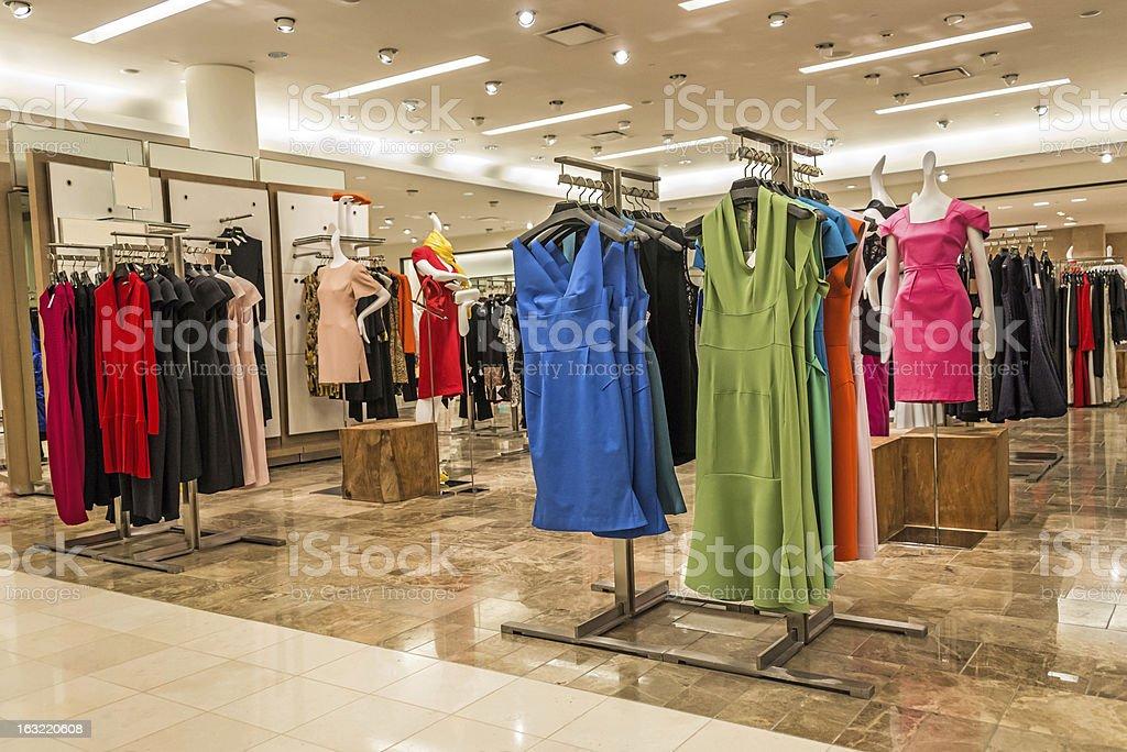 Empty women boutique stock photo