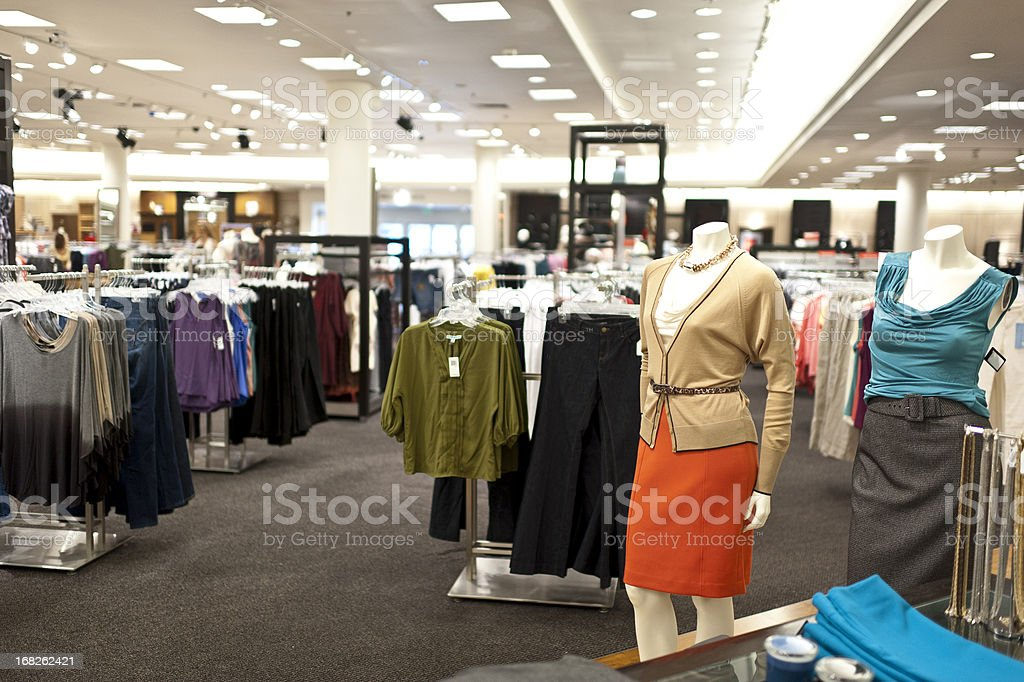 Empty women boutique royalty-free stock photo