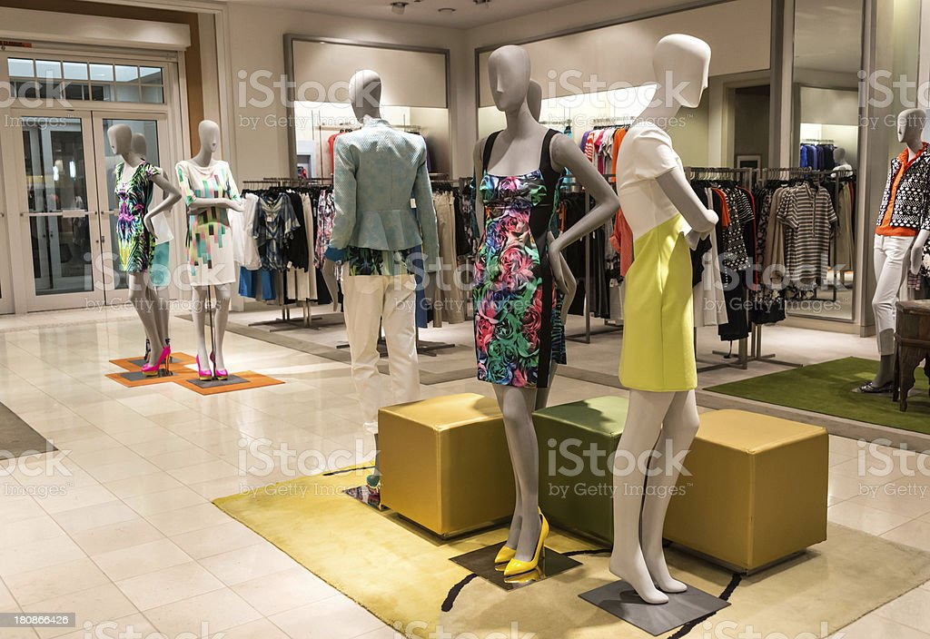 Empty women boutique royalty-free stock photo