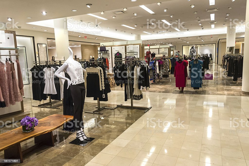Empty women boutique stock photo