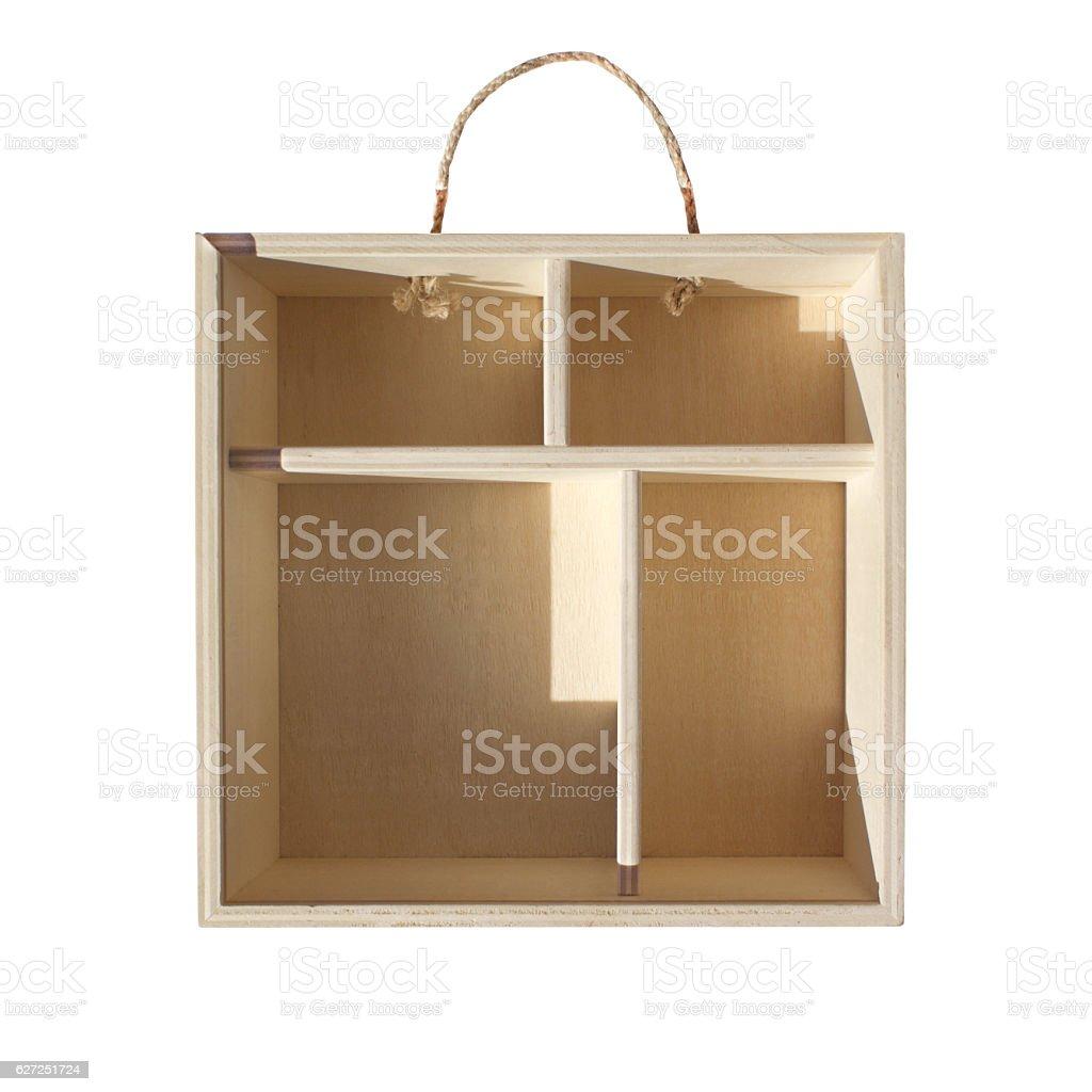 Empty Wood Bag stock photo